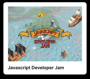 Javascript developer jam poster