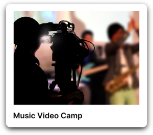 Music video camp poster