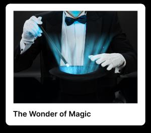 The wonder of magic poster